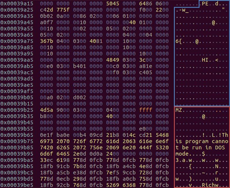 MS-DOS Header/StubおよびPE Header