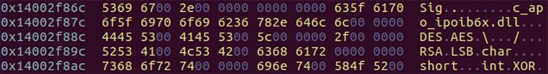 SigLoader(2nd)にハードコードされたファイル名や暗号化方法