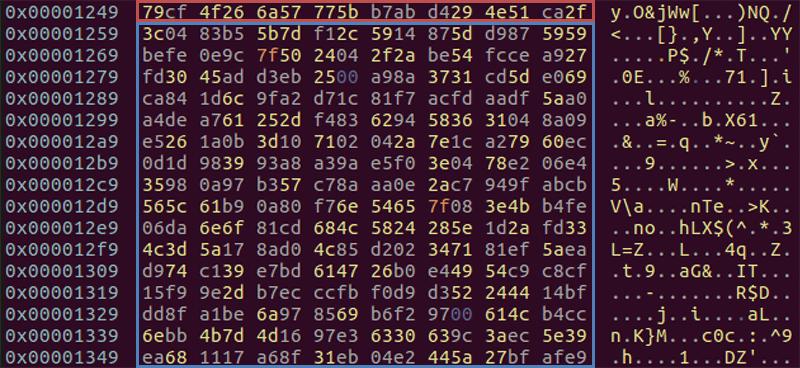 RC4キーおよび暗号化されたペイロード